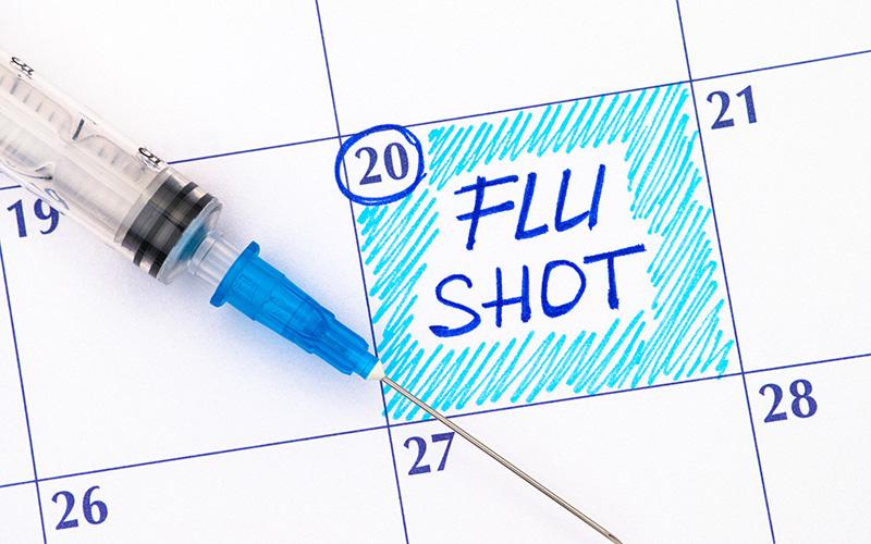 Flu shot calendar appointment