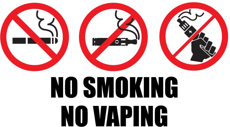 no smoking, no vaping warning signs