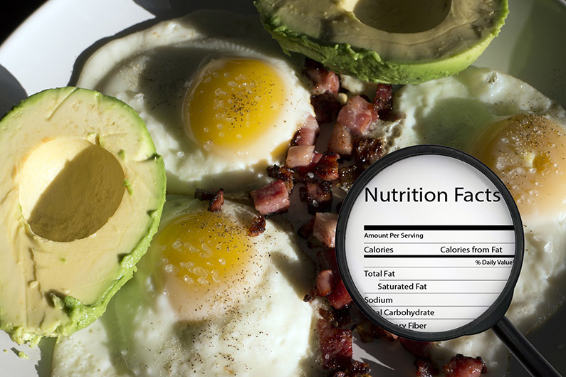 nutrition on eggs and avacado