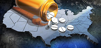Opioids on the US map