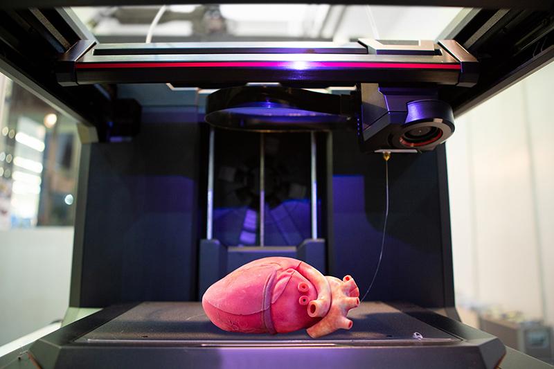 Printed heart