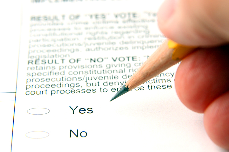 voting on a policy