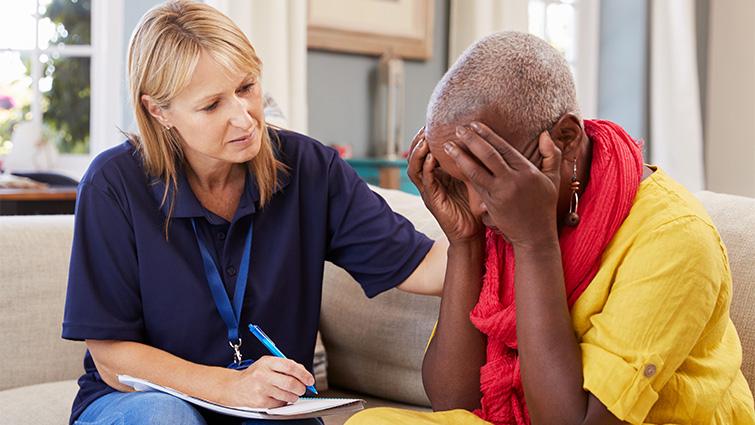 woman counseling someone