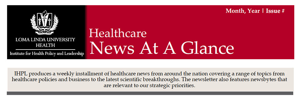 Healthcare News at a Glance